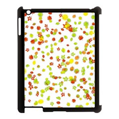 Colorful Fall Leaves Background Apple iPad 3/4 Case (Black)