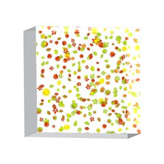 Colorful Fall Leaves Background 4 x 4  Acrylic Photo Blocks