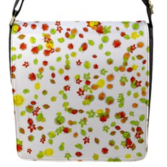 Colorful Fall Leaves Background Flap Messenger Bag (S)