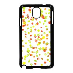 Colorful Fall Leaves Background Samsung Galaxy Note 3 Neo Hardshell Case (Black)