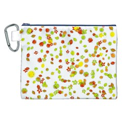 Colorful Fall Leaves Background Canvas Cosmetic Bag (XXL)
