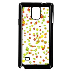 Colorful Fall Leaves Background Samsung Galaxy Note 4 Case (Black)