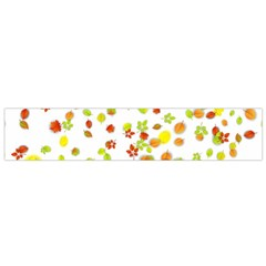 Colorful Fall Leaves Background Flano Scarf (Small)