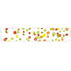 Colorful Fall Leaves Background Flano Scarf (Large)