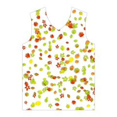 Colorful Fall Leaves Background Men s Basketball Tank Top