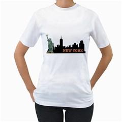 New York Women s T-Shirt (White)