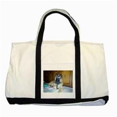 Puppy Belgian Tervueren Two Tone Tote Bag