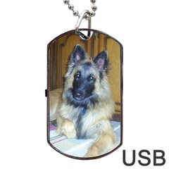 Puppy Belgian Tervueren Dog Tag USB Flash (One Side)