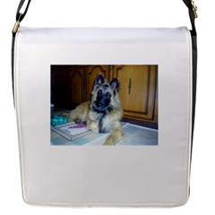 Puppy Belgian Tervueren Flap Messenger Bag (S)