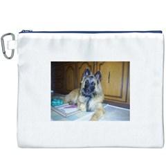 Puppy Belgian Tervueren Canvas Cosmetic Bag (XXXL)