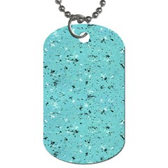 Abstract Cracked Texture Dog Tag (One Side)