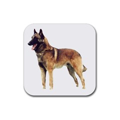 Malinois Full Rubber Square Coaster (4 pack)