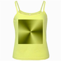Shiny Metallic Silver Yellow Spaghetti Tank