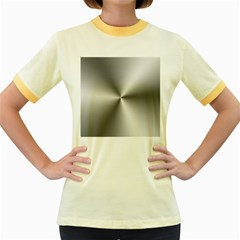 Shiny Metallic Silver Women s Fitted Ringer T-Shirts