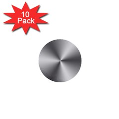 Shiny Metallic Silver 1  Mini Buttons (10 pack)