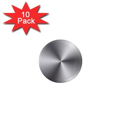 Shiny Metallic Silver 1  Mini Magnet (10 pack)