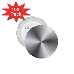 Shiny Metallic Silver 1.75  Buttons (100 pack)