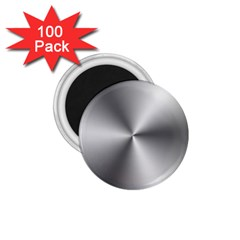 Shiny Metallic Silver 1.75  Magnets (100 pack)