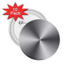 Shiny Metallic Silver 2.25  Buttons (10 pack)