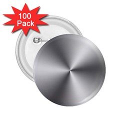 Shiny Metallic Silver 2.25  Buttons (100 pack)