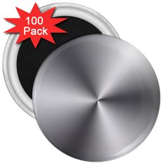 Shiny Metallic Silver 3  Magnets (100 pack)