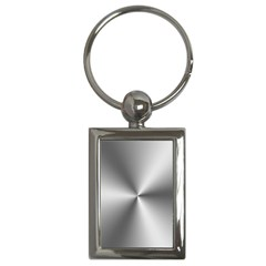 Shiny Metallic Silver Key Chains (Rectangle)