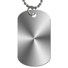 Shiny Metallic Silver Dog Tag (One Side)