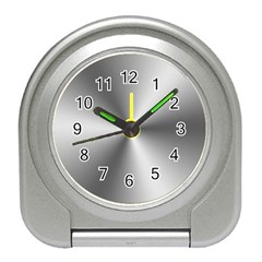 Shiny Metallic Silver Travel Alarm Clocks