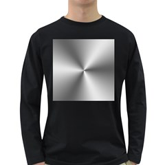 Shiny Metallic Silver Long Sleeve Dark T-Shirts