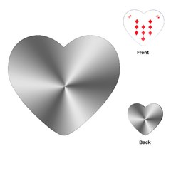 Shiny Metallic Silver Playing Cards (Heart)