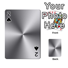 Shiny Metallic Silver Playing Cards 54 Designs
