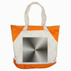 Shiny Metallic Silver Accent Tote Bag