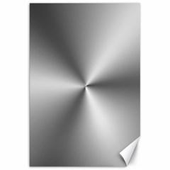 Shiny Metallic Silver Canvas 20  x 30