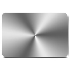 Shiny Metallic Silver Large Doormat