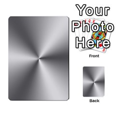 Shiny Metallic Silver Multi-purpose Cards (Rectangle)