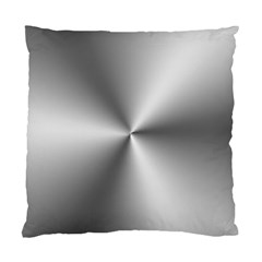 Shiny Metallic Silver Standard Cushion Case (One Side)