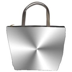 Shiny Metallic Silver Bucket Bags