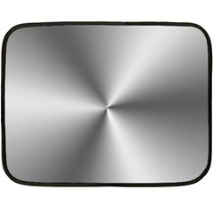 Shiny Metallic Silver Fleece Blanket (Mini)