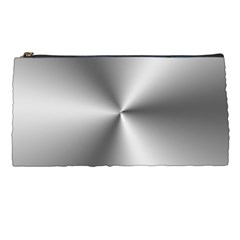 Shiny Metallic Silver Pencil Cases