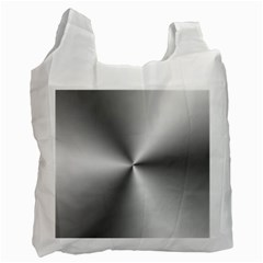 Shiny Metallic Silver Recycle Bag (Two Side)