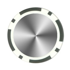 Shiny Metallic Silver Poker Chip Card Guards (10 pack)