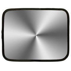 Shiny Metallic Silver Netbook Case (XXL)