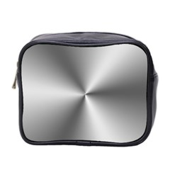 Shiny Metallic Silver Mini Toiletries Bag 2-Side