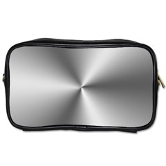 Shiny Metallic Silver Toiletries Bags