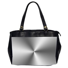 Shiny Metallic Silver Office Handbags (2 Sides)