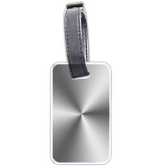 Shiny Metallic Silver Luggage Tags (Two Sides)