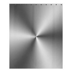 Shiny Metallic Silver Shower Curtain 60  x 72  (Medium)