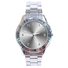 Shiny Metallic Silver Stainless Steel Analogue Watch