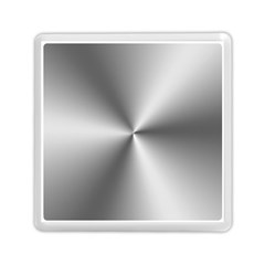 Shiny Metallic Silver Memory Card Reader (Square)