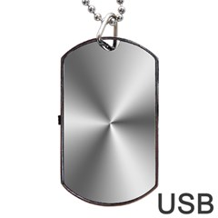 Shiny Metallic Silver Dog Tag USB Flash (One Side)